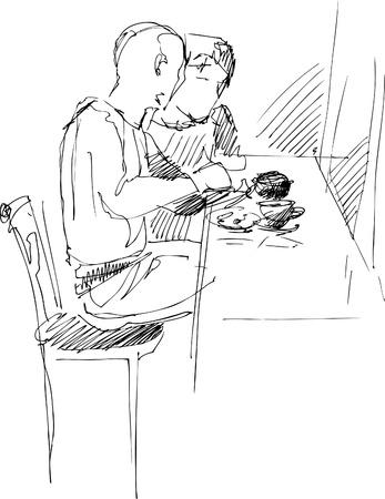merrily: Fellow con una ragazza al tavolo in un caff�