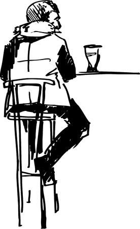 guy on the stool Vector