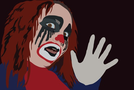 frightful: image of clown with frightful gimom