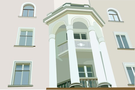 flowed: image facade of house with white columns