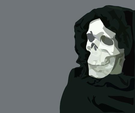image of human skull  by black empty eye sockets Stock Vector - 10644427