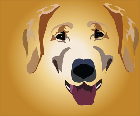 muzzle of dog Stock Vector - 10644428