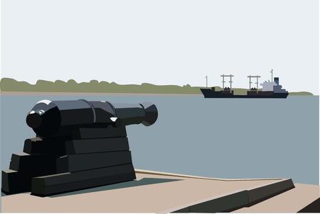 howitzer: Cannon Illustration