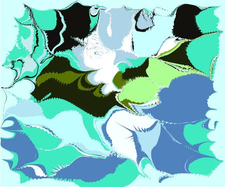 frizz pattern: abstraction blue Illustration