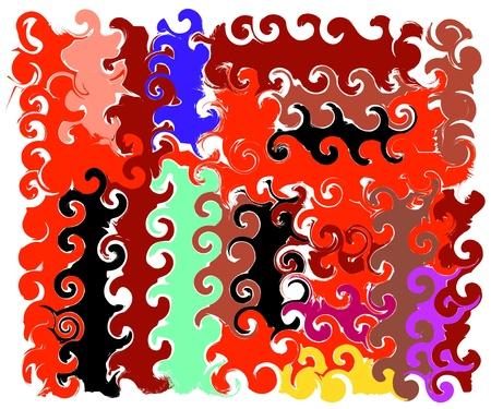 frizz pattern: abstraction orange