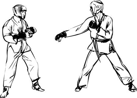Karate Kyokushinkai sketch martial arts and combative sports Stock Vector - 11119018