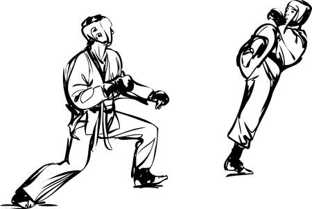Karate Kyokushinkai sketch martial arts and combative sports Stock Vector - 11119017