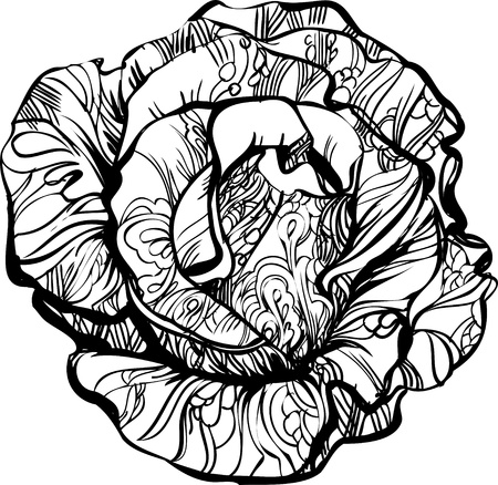 a black and white rose with tatoo photo