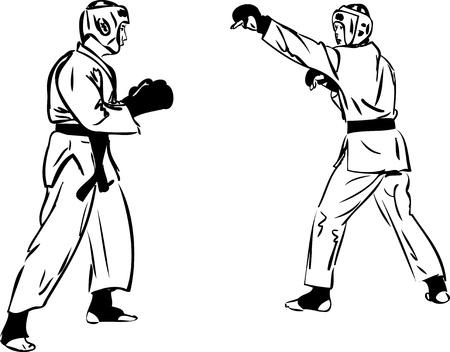 Karate Kyokushinkai sketch martial arts and combative sports Stock Vector - 11119025