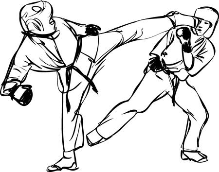 Karate Kyokushinkai sketch martial arts and combative sports Stock Vector - 11119026