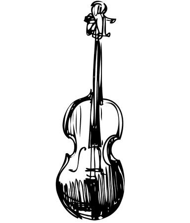 schets van een snaarinstrument orkest viool