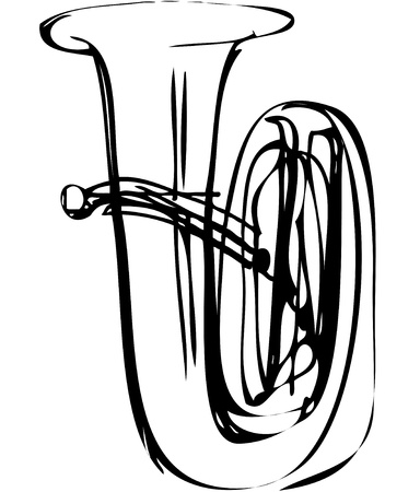 a sketch of the copper tube musical instrument Stock Vector - 11119042