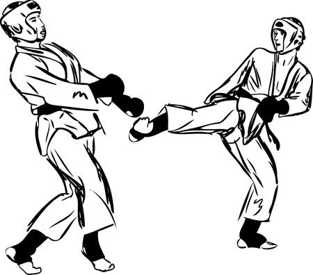 Karate Kyokushinkai sketch martial arts and combative sports Stock Vector - 11177194
