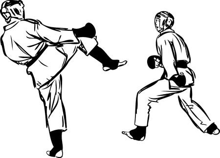 Karate Kyokushinkai sketch martial arts and combative sports Stock Vector - 11177192