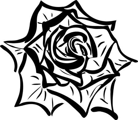 resembling: Soda sketch of a flower resembling a rose