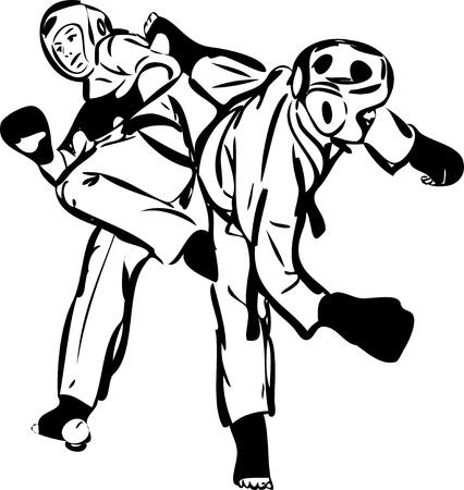 Karate Kyokushinkai  martial arts  sports Stock Vector - 11294217