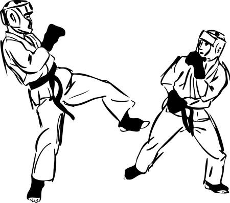 Karate Kyokushinkai  martial arts  sports Stock Photo - 11294215