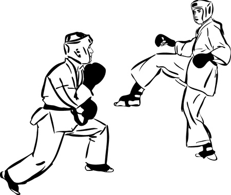 Karate Kyokushinkai  martial arts  sports Stock Vector - 11294226