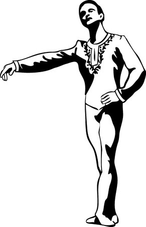 ballet hombres: hombre de pie en actitud bailarina de ballet Vectores