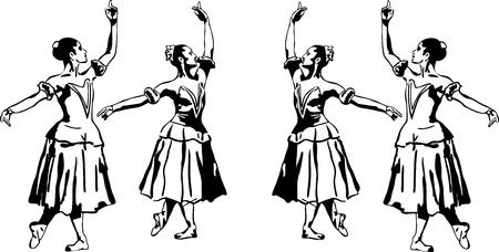 21 sketch of girls ballerina standing in a pose(1).jpg Illustration