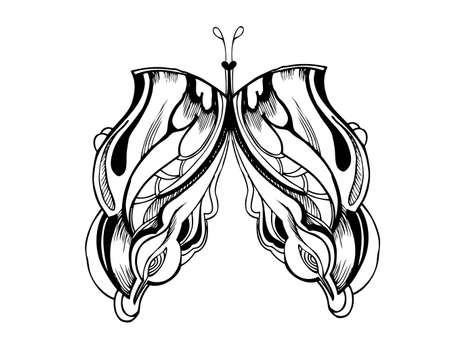 aside: abstract graphic design butterfly  Illustration
