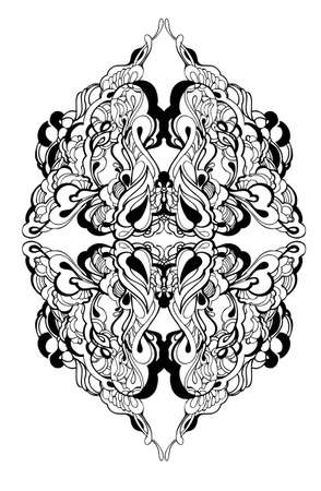 abstract graphic design in black and white Stock Vector - 12730445