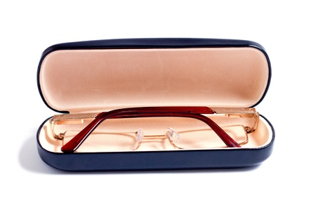 glasses of gold color and case to them Stock Photo - 13164506