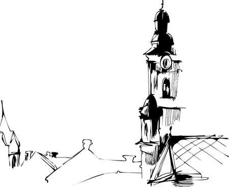 clock tower: clock tower in the town square