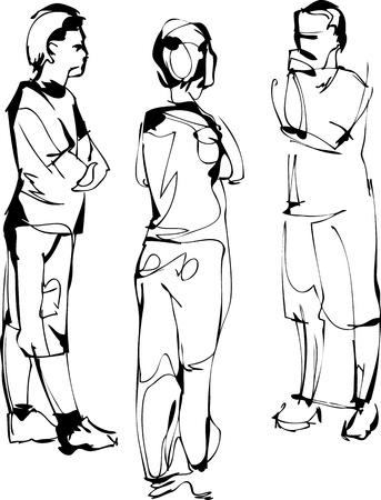fellows: sketch company from three fellows speak Illustration