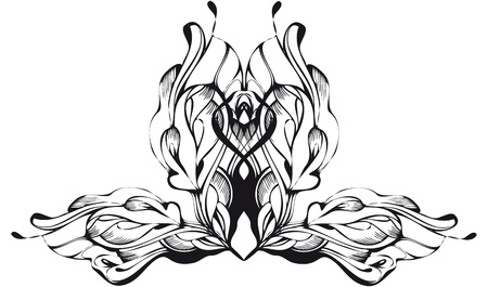 abstract graphic design in black and white Vector