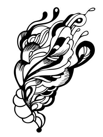 a abstract graphic design in black and white Vector
