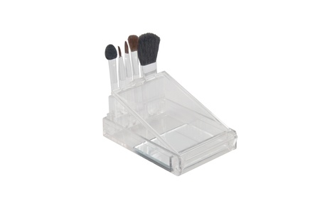 a set of brushes for makeup in a transparent box photo