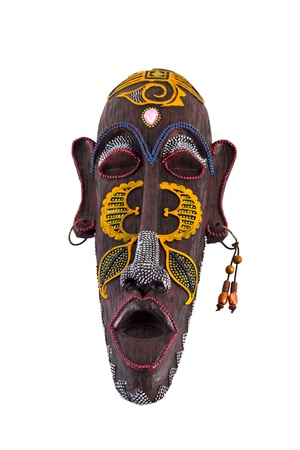 tribal mask: image of wooden  painting mask of culture of tribes of Africa