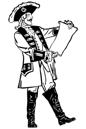 jackboots: a sketch retro an officer reads out an order