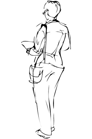 spectacled: a sketch of beautiful girl spectacled