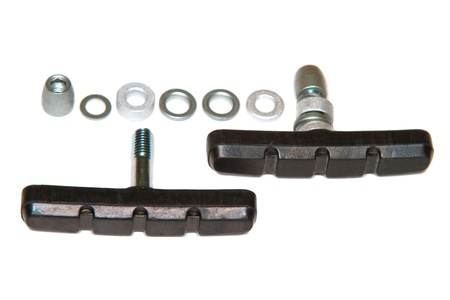 freewheel: a Image of rubber brake pads for bicycle