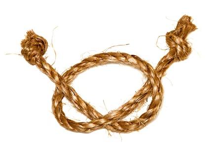 image of hemp rope on a white background