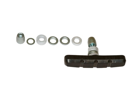 Image of rubber brake pads for bicycle photo