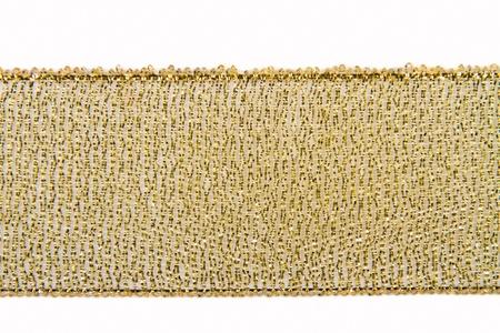 lurex: gold wide ribbon braids on a white background