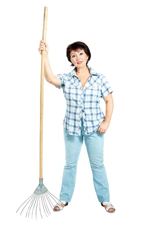 sweeps: image of woman with rakes in hands