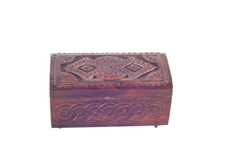 wooden box for female ornaments and jewelry photo