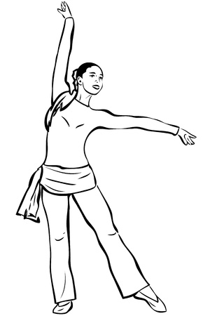 a young slip of a girl that engages in a gymnastics