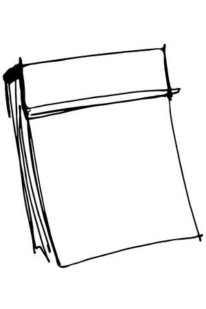 detachable: black and white vector sketch paper tear-off calendar Illustration
