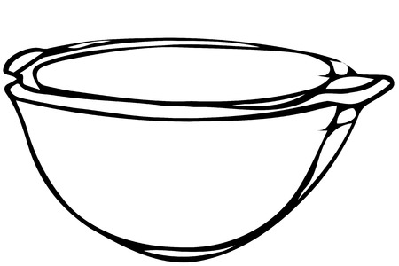 table sizes: black and white vector sketch porcelain soup plate soup