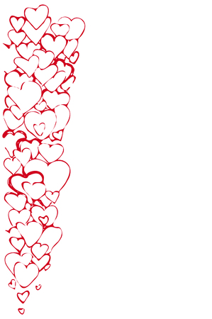 variety: a Vector sketch of the background of a variety of red hearts