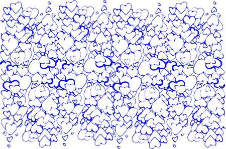 corazones azules: un bosquejo del vector del fondo de una variedad de corazones azules Vectores