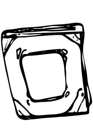ancient book: black and white vector sketch of ancient book in-bound