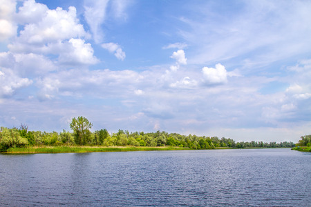 marshes: image landscape river Dnieper marshes and Kherson Stock Photo