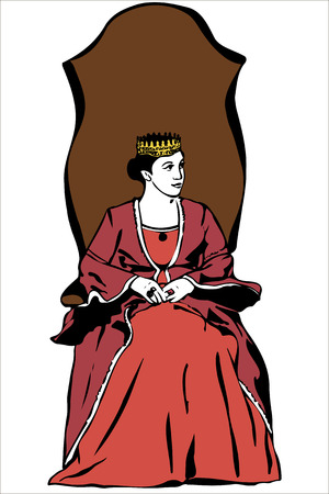 vector image of the queen wearing a crown