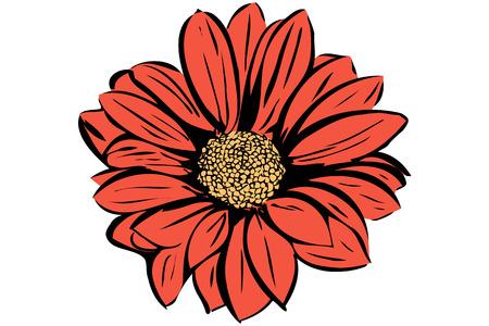 Vector de la imagen de un hermoso jardín de flores en flor